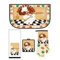 Home Dynamix Medley Pizza Pie Kitchen 4 Piece Set; Kitchen Medley Set