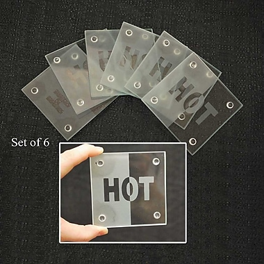 McGowan Tuftop Hot on Clear Coasters (Set of 6)