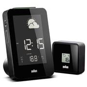 Braun Digital Weather Station Alarm Clock; Black