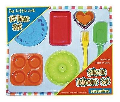 Sassafras 10 Piece The Little Cook Silicone Bakeware Set WYF078275548761