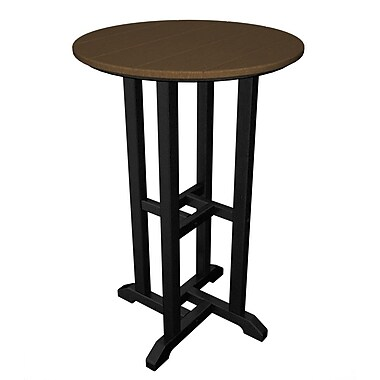 POLYWOOD Contempo Bar Table; Black & Teak