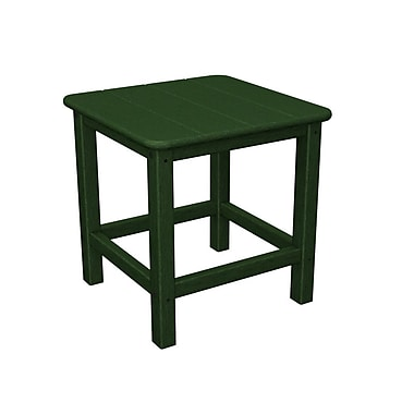 POLYWOOD Adirondack Side Table; Hunter Green