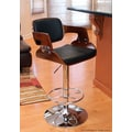 LumiSource 27'' Adjustable Bar Stool; Cherry / Black