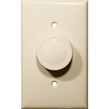 Morris Products Rotary Fan Single Pole Variable Speed Controls in Ivory