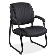 OfficeSource Ultima Sled Base Leather Guest Chair