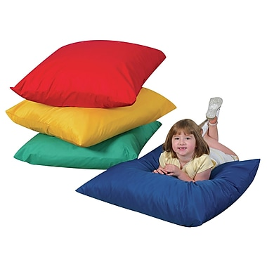 Children's Factory Floor Pillow; Yellow