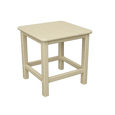 POLYWOOD Adirondack Side Table; Sand
