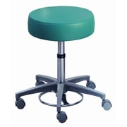 Brewer Millennium Series Surgeon's Round Seat Stool w/ Locking Casters; With Sewn Upholstery