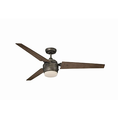Emerson Fans 60'' 4th Avenue 3 Blade Ceiling Fan; Vintage Steel with Riverwash Blades