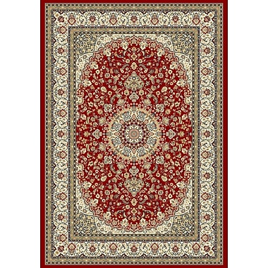 Dynamic Rugs Ancient Garden Red/Ivory Area Rug; 6'7'' x 9'6''
