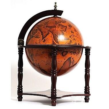 Old Modern Handicrafts Globe Bar 4 Legged Stand-Red