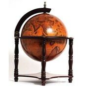Old Modern Handicrafts Globe Bar 4 Legged Stand-Red