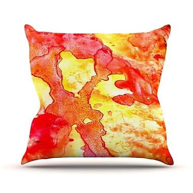 KESS InHouse Hot Hot Hot Throw Pillow; 18'' H x 18'' W