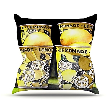 KESS InHouse Lemonade Throw Pillow; 18'' H x 18'' W