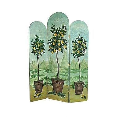 Wayborn 72'' x 53'' Lemon Trees 3 Panel Room Divider