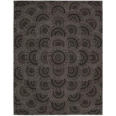 Nourison 2000 Black/Grey Area Rug; 7'9'' x 9'9''