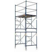 MetalTech SaferStack 10' H x 60'' W x 84'' D Steel Contractor Series Fixed Tower Scaffolding