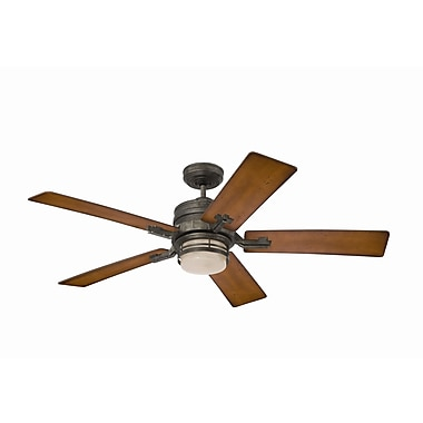 Emerson Fans 54'' Transitional Amhurst 5 Blade Ceiling Fan; Vintage Steel with Dark Cherry Blades