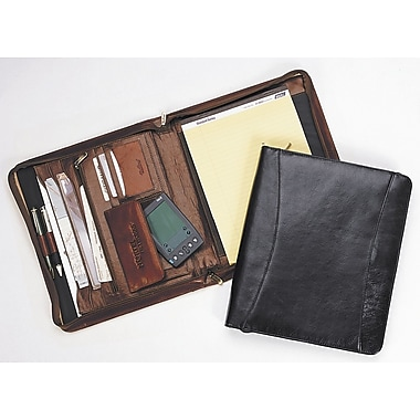 Bellino Zip-Around Pad Organizer; Cognac