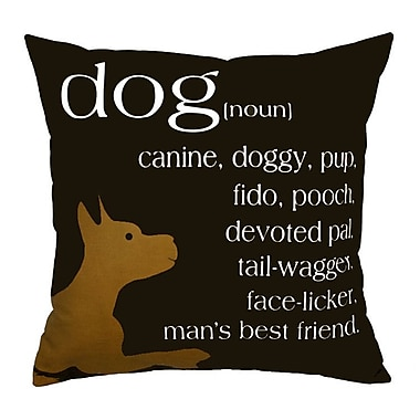 Uptown Artworks Dog Noun Throw Pillow