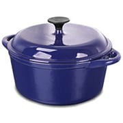 Range Kleen 5-qt. Cast Iron Round Dutch Oven; Blue
