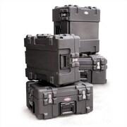 SKB Mil-Standard Roto Case: 26 1/2'' H x 28'' W x 28'' D (outside); Layered Foam