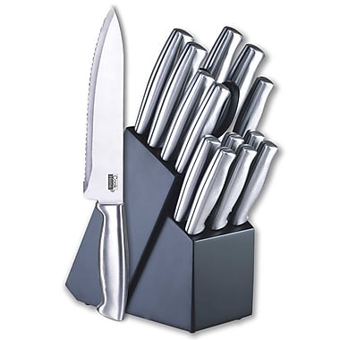 Cook N Home 15 Piece Cutlery Never Need Sharpening Blade Knife Block Set