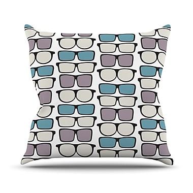 KESS InHouse Spectacles Geek Chic Throw Pillow; 18'' H x 18'' W