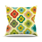 KESS InHouse Forest Bloom Polyester Throw Pillow; 20'' H x 20'' W