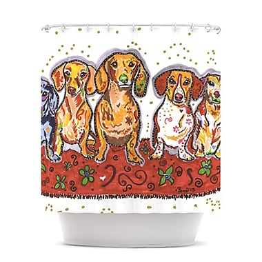 KESS InHouse Maksim Murray Enzo Ruby & Willy Shower Curtain