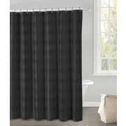 DR International Crystal Shower Curtain; Black