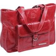 Clark & Mayfield Stafford Vintage Laptop Tote Bag; Red
