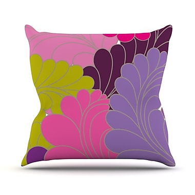 KESS InHouse Moroccan Leaves Throw Pillow; 26'' H x 26'' W