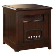 Muskoka Decorative Infrared Cabinet Space Heater Side Table; Burnished Walnut