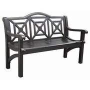 Innova Hearth and Home Concord Cast Aluminum Camelback Park Bench; Semi-Matte Black