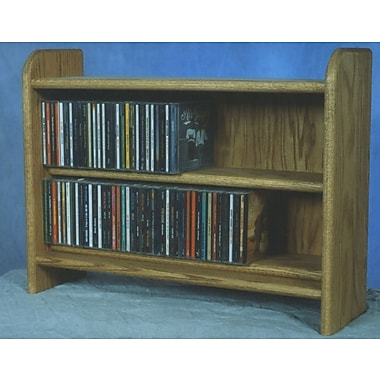 Wood Shed Deluxe 110 CD Multimedia Tabletop Storage Rack; Natural