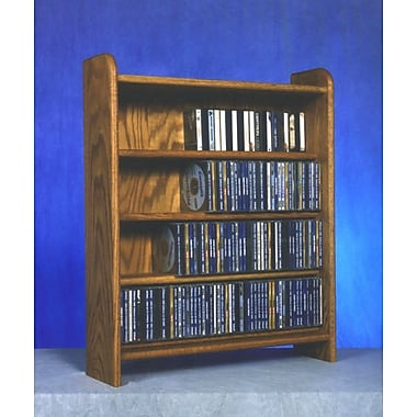 Wood Shed 400 Series 220 CD Multimedia Storage Rack; Dark