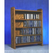 Wood Shed 400 Series 220 CD Multimedia Storage Rack; Clear