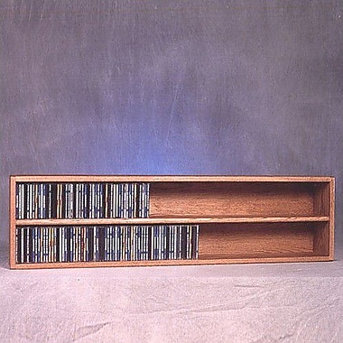 Wood Shed 200 Series 236 CD Multimedia Tabletop Storage Rack; Unfinished