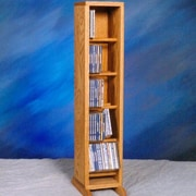 Wood Shed 500 Series 70 CD Dowel Multimedia Storage Rack; Unfinished