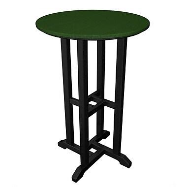 POLYWOOD Contempo Bar Table; Black & Green