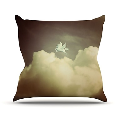 KESS InHouse Pegasus Throw Pillow; 18'' H x 18'' W