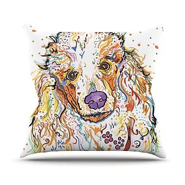 KESS InHouse Lily Throw Pillow; 18'' H x 18'' W