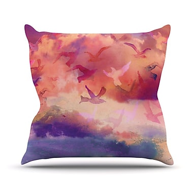 KESS InHouse Souffle Sky Throw Pillow; 18'' H x 18'' W