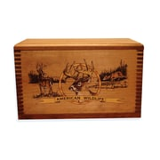 Evans Sports Wooden Accessory Box With ''Wildlife Series'' Deer Print