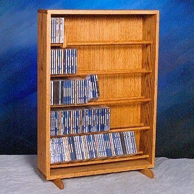 Wood Shed 500 Series 275 CD Dowel Multimedia Storage Rack; Clear