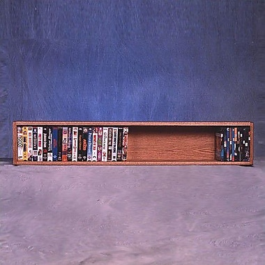 Wood Shed 100 Series 50 VHS Wall Mounted Multimedia Storage Rack; Dark
