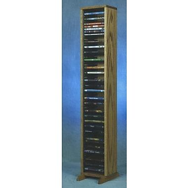 Wood Shed 100 Series 64 DVD Multimedia Storage Rack; Natural