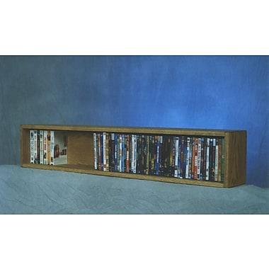 Wood Shed 100 Series 88 DVD Multimedia Tabletop Storage Rack; Natural