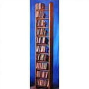 Wood Shed 1000 Series 260 CD Backless Dowel Multimedia Storage Rack; Unfinished